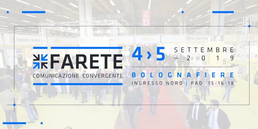FARETE – Bologna Fiere | 4-5 Settembre 2019