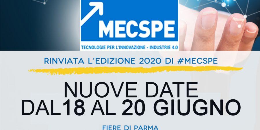 Rimandata l'Edizione di MECSPE 2020